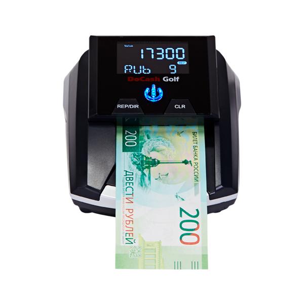 Детектор банкнот DoCash GOLF RUS с АКБ