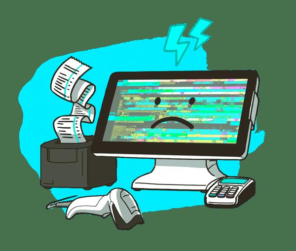 Онлайн-касса сломалась