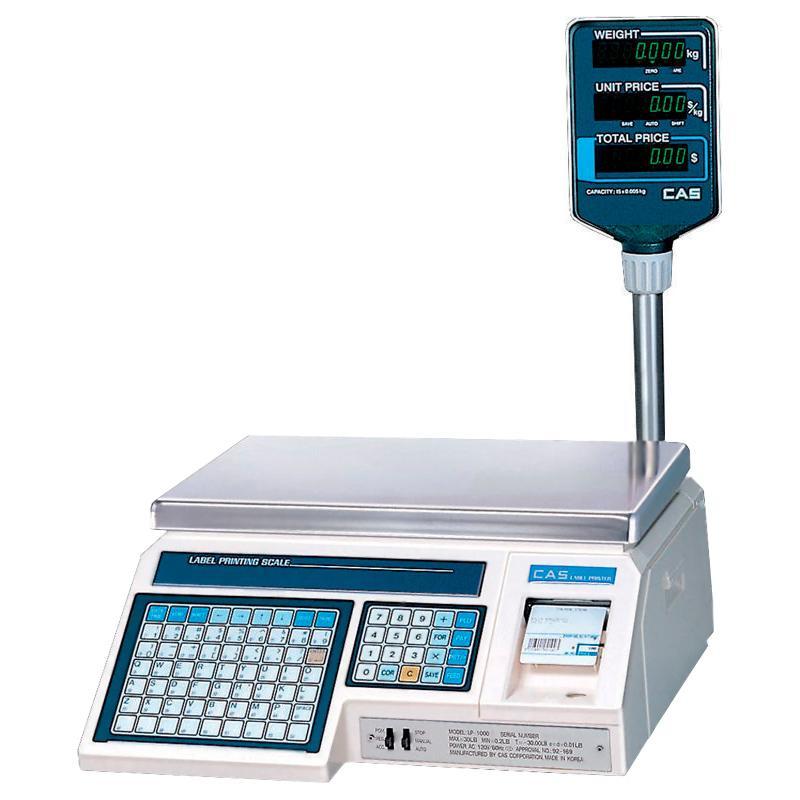Весы CAS LP (1.6 v) с печатью этикеток
