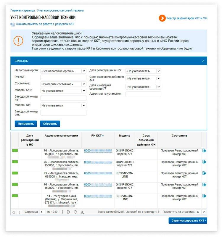 Учет ККТ регистрация в ФНС