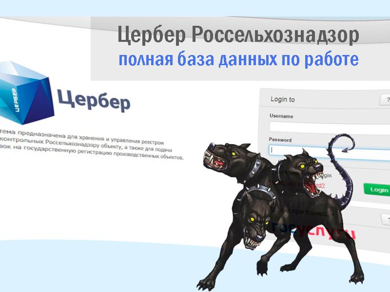 «Цербер» Россельхознадзор: база данных системы