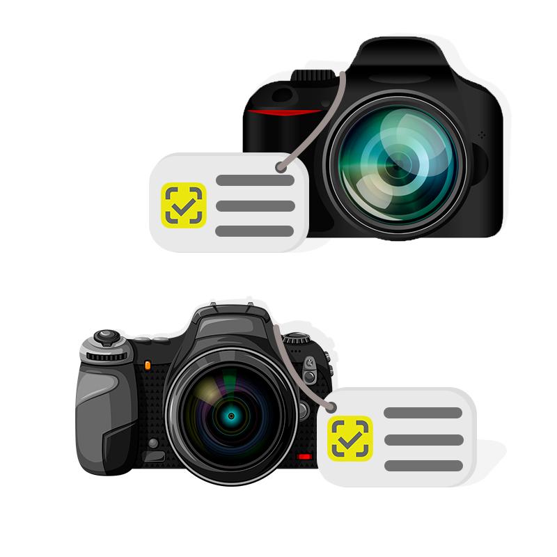 Маркировка остатков фотоаппаратов